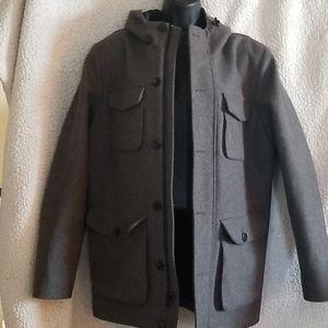 Grey men's wool Coat